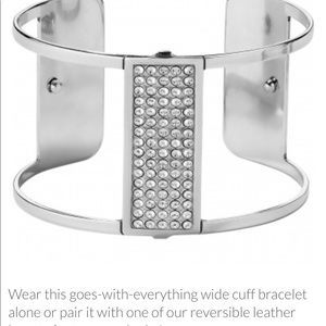 Crystal Danube wide cuff bracelet NWT